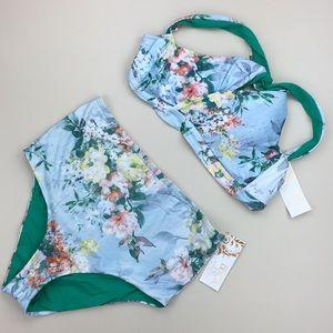Becca Femme Flora Bikini Two Piece Swimsuit NWT